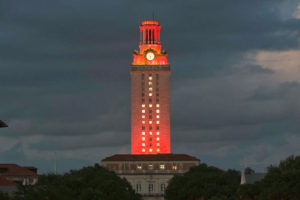 Tower Lighting Honors Department of Chemical Engineering's Centennial