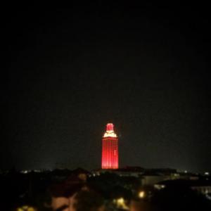 Tower Turns Orange for President's Staff Awards