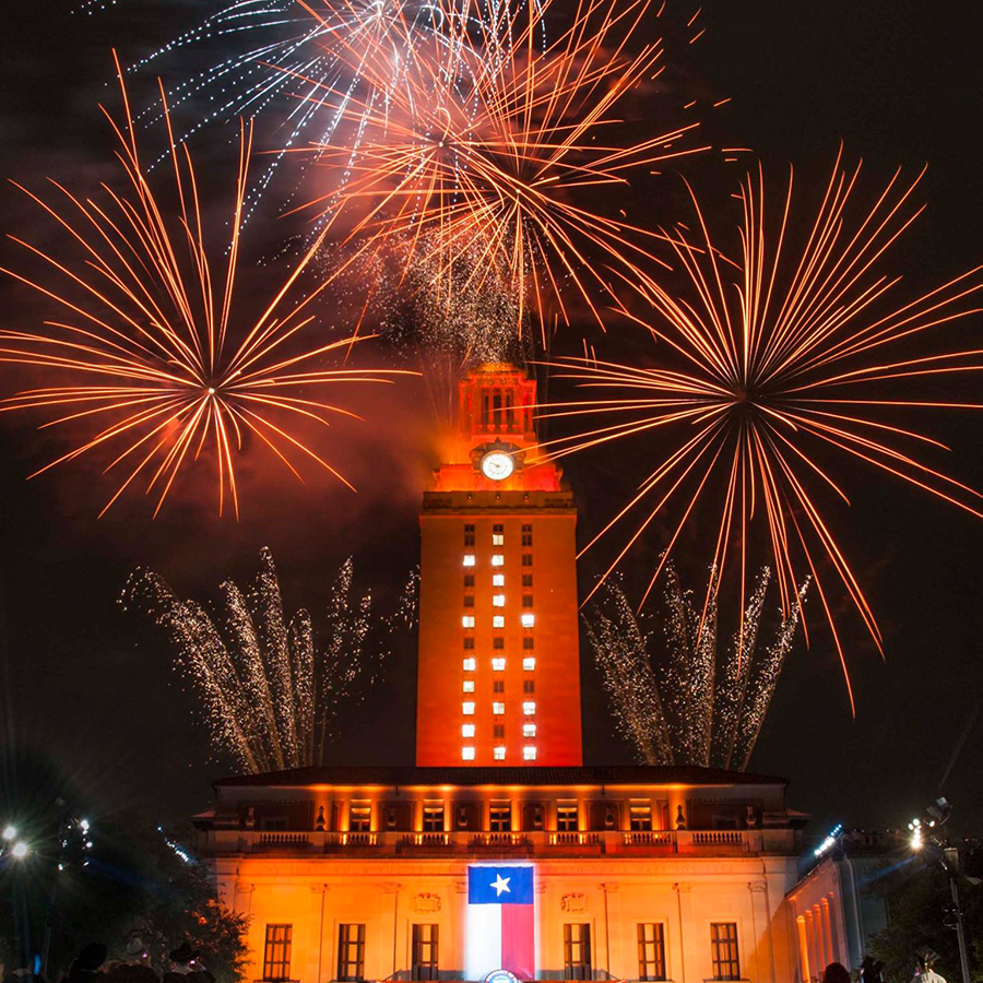 """Tower Shines With """"16"""" For Fall Graduates - UT Tower"""