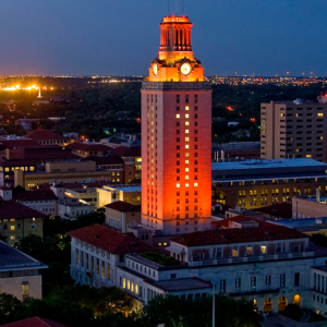 Tower Turns Orange for Filming Endeavor