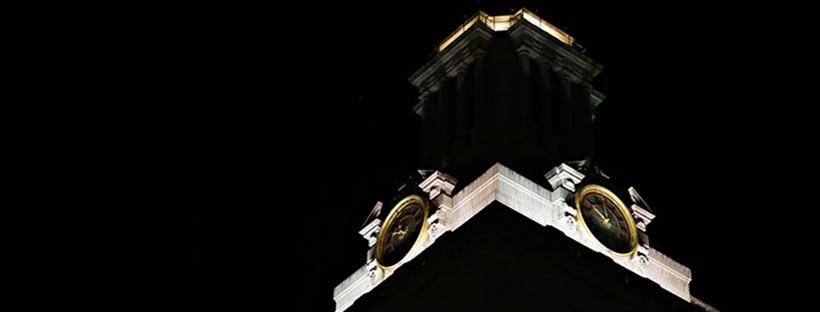 Darkened Tower with white cap