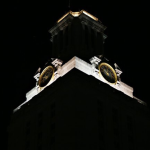 Darkened Tower with white cap