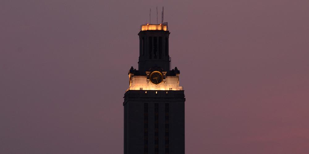 Tower Darkens for UT Remembers
