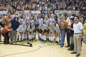 Light the Tower: Texas Volleyball Celebrates 2017 Big 12 Championship