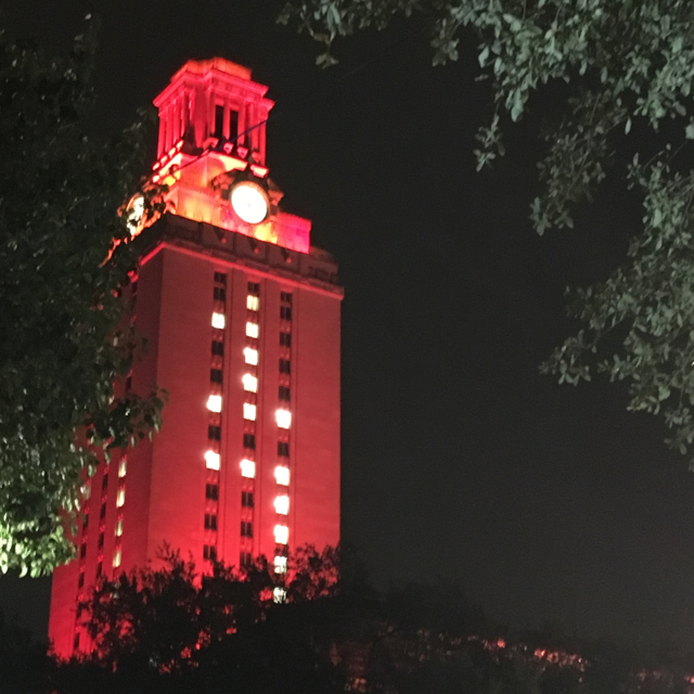 University Of Texas Campus At Night