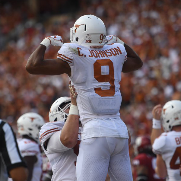 "<span class=""atmosphere-large-text"">10/06/2018</span><span class=""intro"">Light the Tower: Texas beats Oklahoma, 48-45</span>"