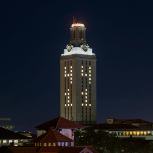 Darkened Tower Memorializes George H.W. Bush