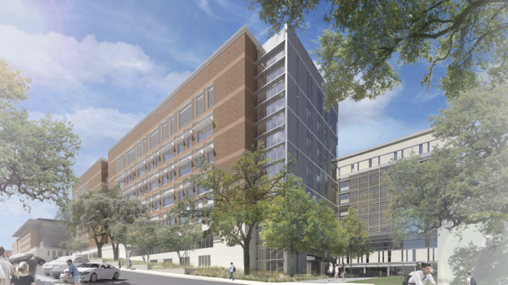 An illustration of what the Gary L. Thomas Energy Engineering Building will look like