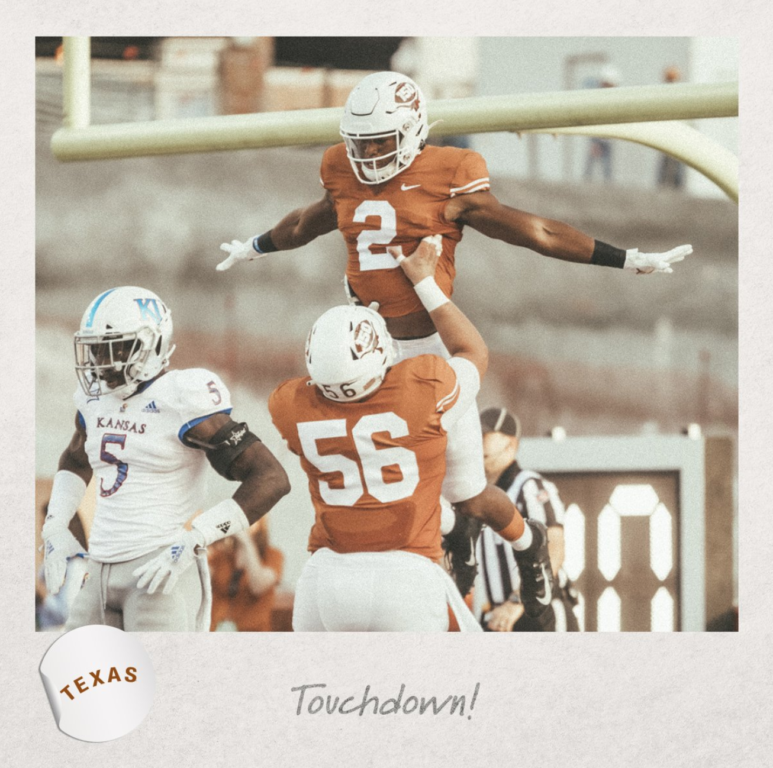 Longhorns score a touchdown against Kansas at DKR