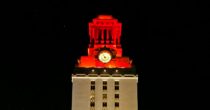 Tower with orange top