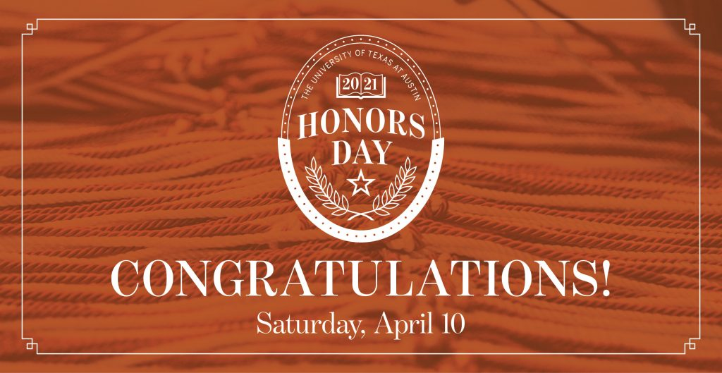 Congratulations Honors Day 2021 scholars!